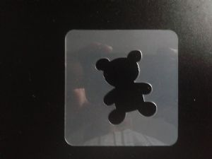 2 x Teddy Bear stencils for face painting / many other uses   Children in Need fundraising
